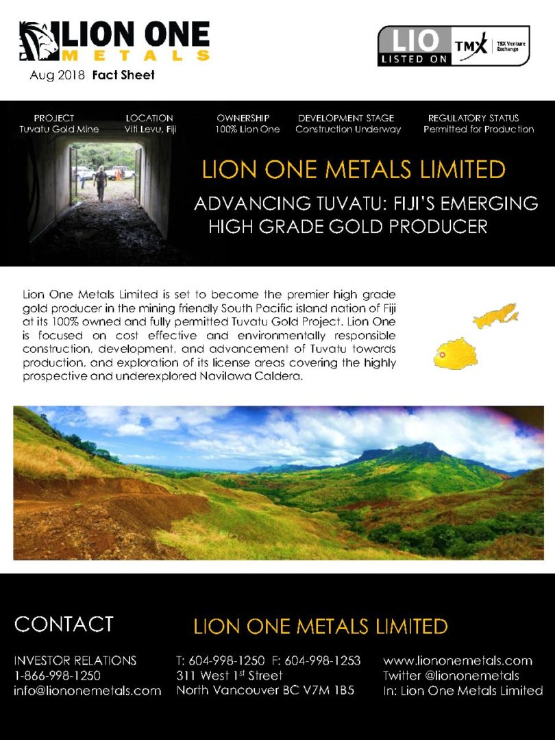 Fact sheet lion one metals please view or download our corporate fact sheet publicscrutiny Choice Image